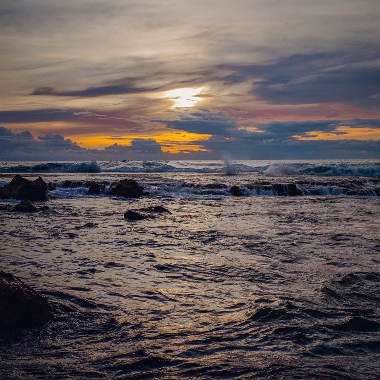The tide pulls me back... Sunset Scenics Water Sea Beauty In Nature Tranquil Scene Tranquility Rippled Waterfront Idyllic Nature Cloud - Sky Sky Wave Remote Calm Seascape Majestic Non-urban Scene