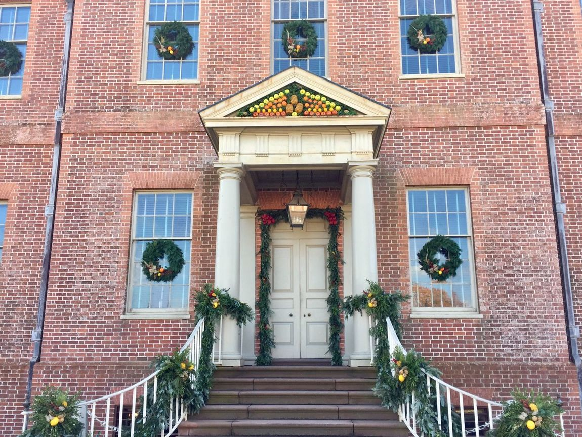 Architecture Built Structure Steps Building Exterior Steps And Staircases Outdoors Day No People City History Building Historical Building Tryon Palace New Bern Christmas Decoration Colonial Georgian Architecture Christmas