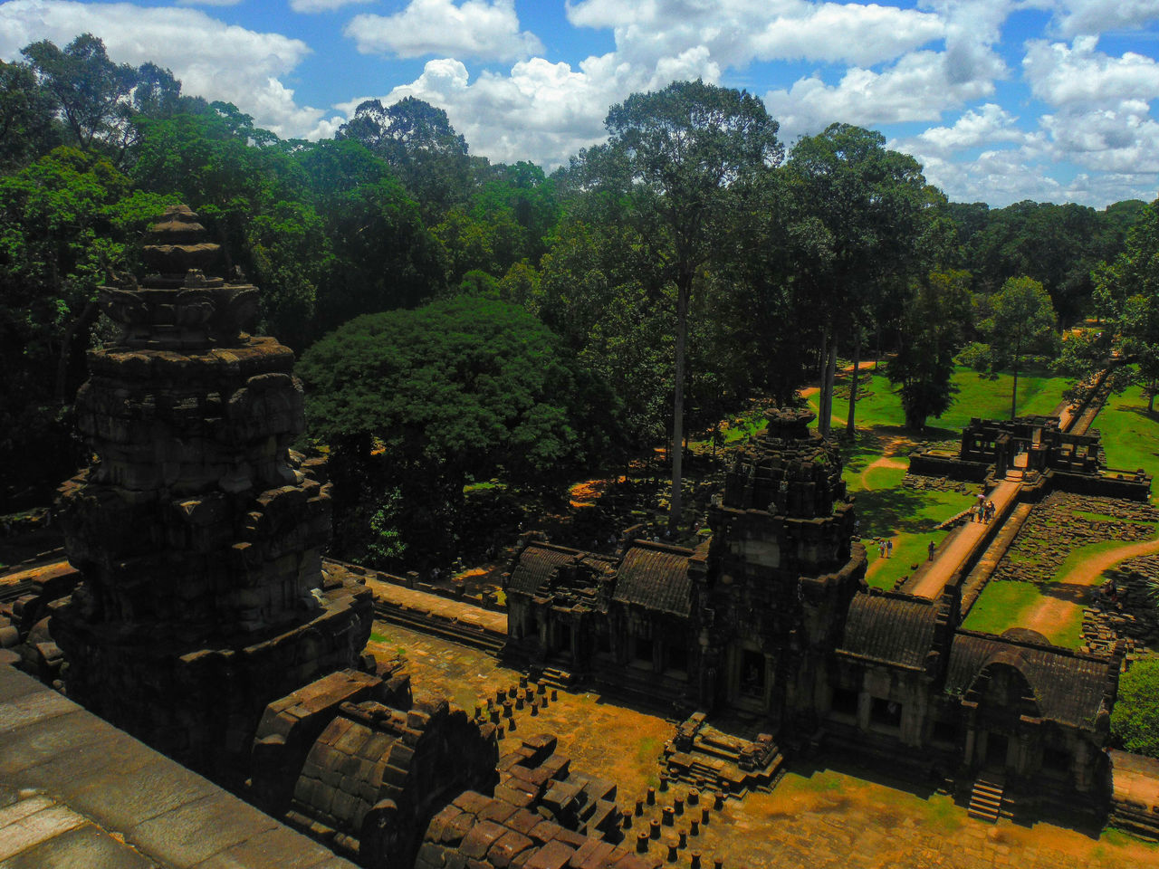 Baphuon, Angkor Wat Siem Reap Cambodia Travel Destinations Explore Cambodia Travel Cambodia Travel Asia Angkor Wat Angkorwat Angkor Angkor Wat, Cambodia Temple Architecture Ancient Temple Ancient Architecture Ancient Stone Temple Baphuon Baphuon Temple Angkor Thom Angkorthom Outdoors High Angle View Looking Down Architecture No People Sun And Clouds
