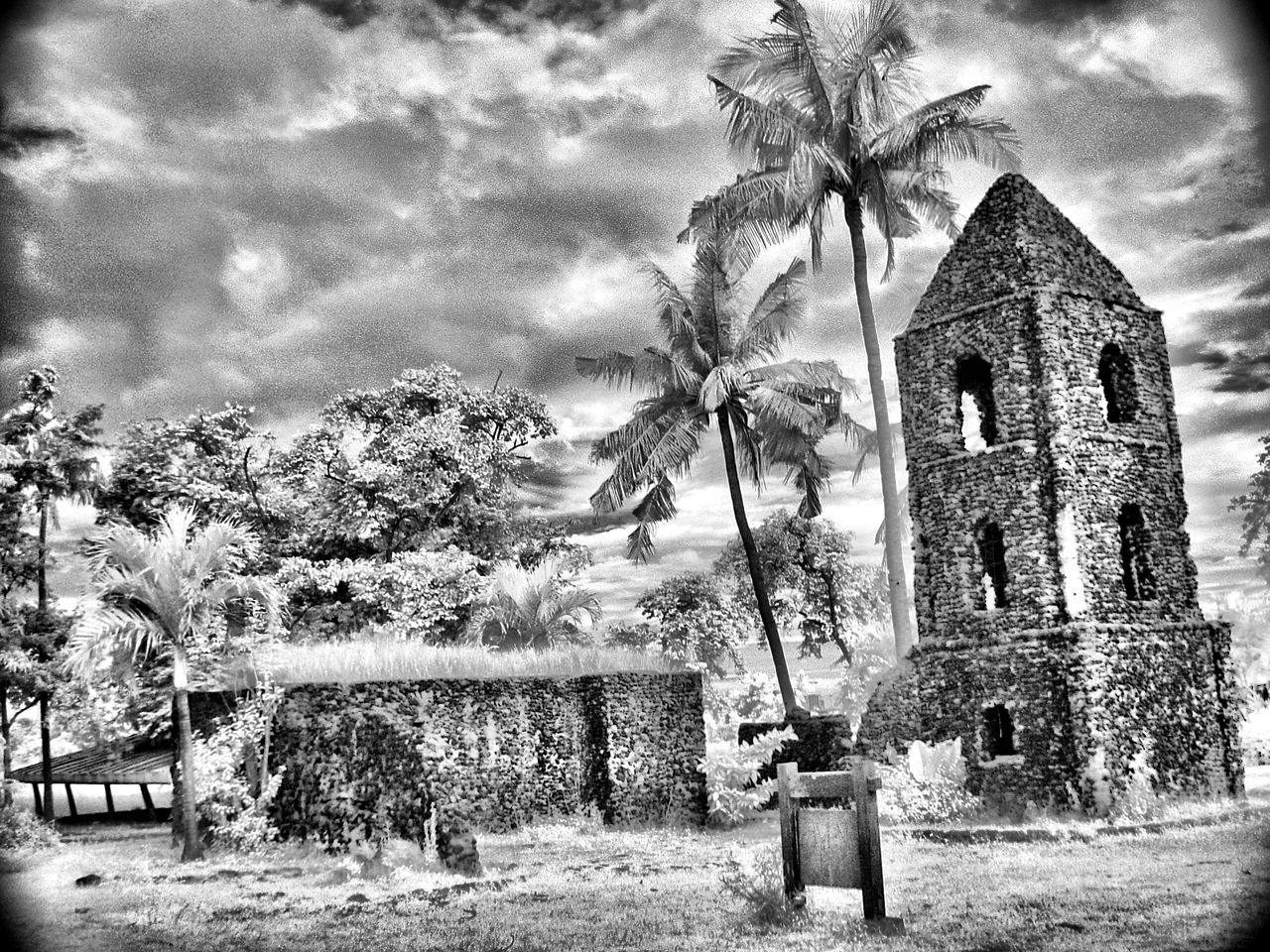 Church replica Architecture Built Structure Building Exterior Church Sky Place Of Worship Outdoors Infraredphotography