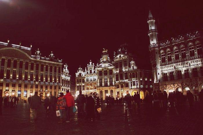 Belgium Grande Place Brussels Nightphotography