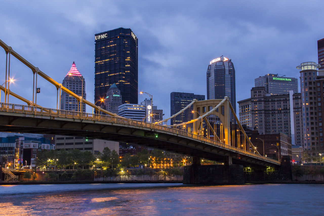 Pittsburgh The Street Photographer - 2016 EyeEm Awards Night Photography Cityscape Bridge River Allegheny River Urban Exploration Urban Cities At Night