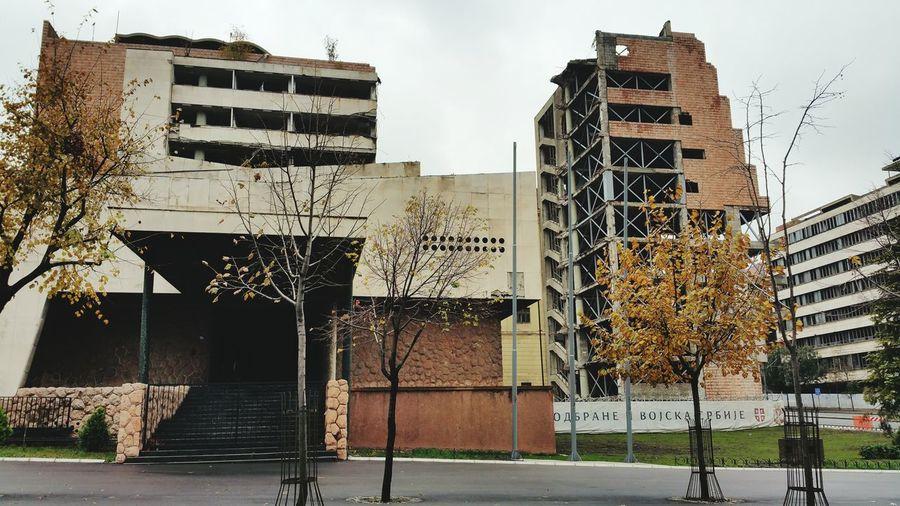 Architecture NATO And Serbia City Belgrade,Serbia Graver.i.Pecatorezac MILJKOVIC