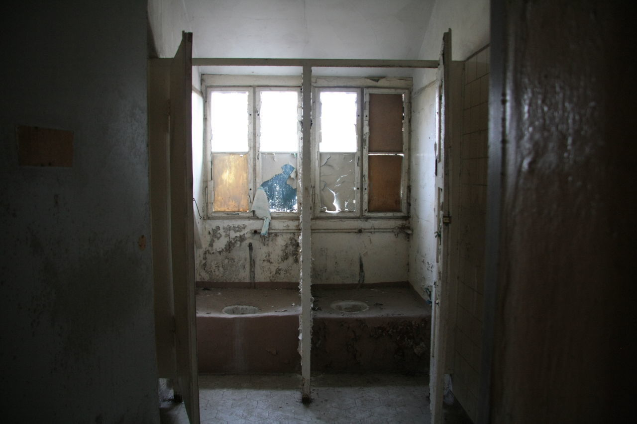Abandoned Toilet In Home