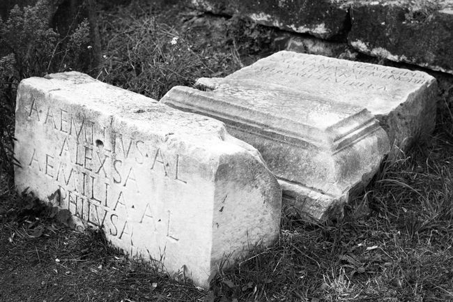 Abandoned Appia Antica Appian Way Bad Condition Black And White Damaged Decline Deterioration Discarded Monochrome Monochrome Photography No People Old Outdoors Roman Ruins Rome Rome Italy Ruined Run-down Stone Material The Past Weathered Worn Out