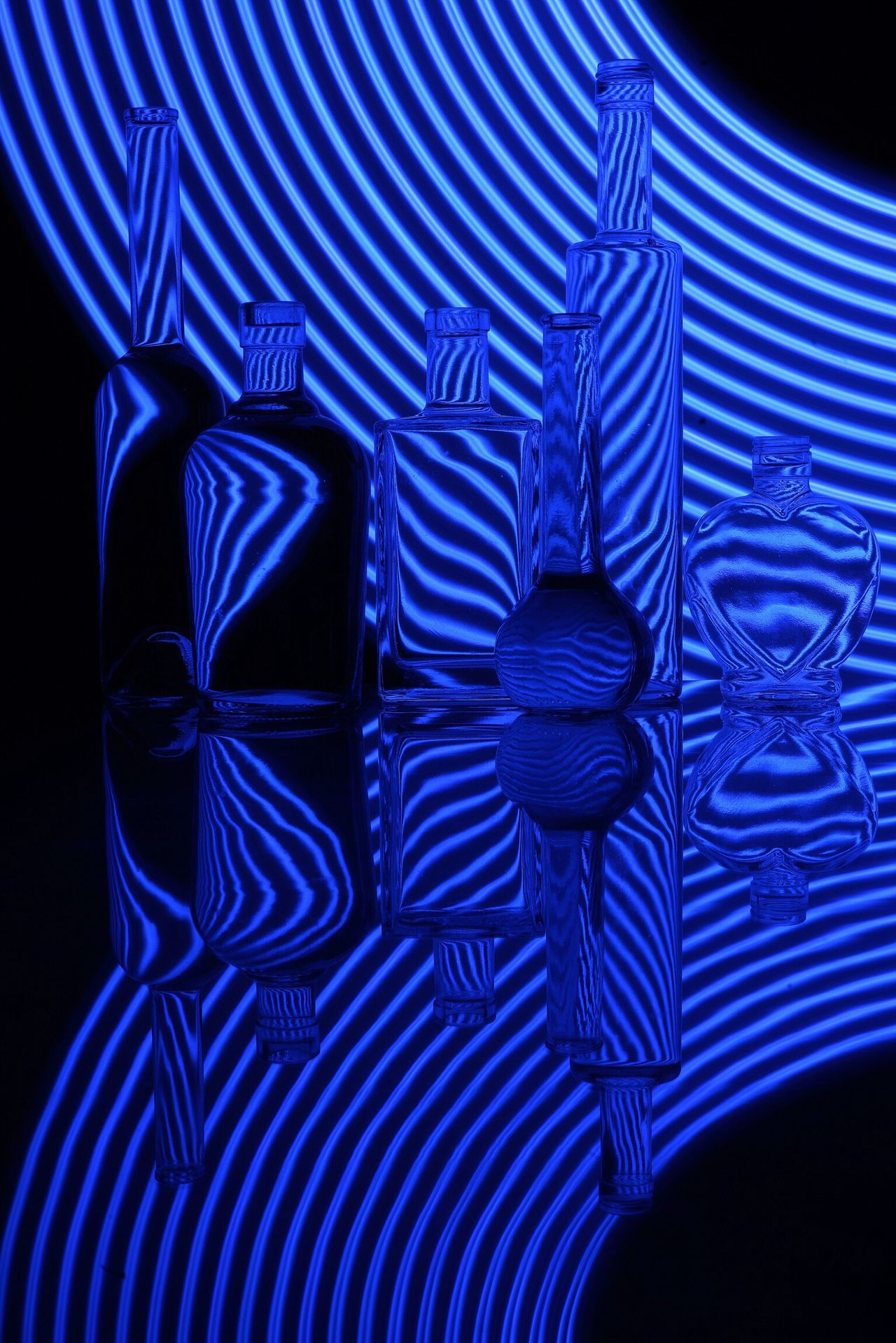 Blue Striped Pattern Red Celebration Close-up Abstract No People Outdoors Day Bottle Bottles Collection Art Creativity OpenEdit Tadaa Community Long Exposure
