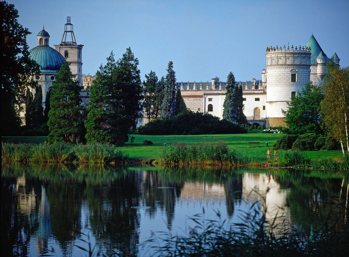Architecture Building Exterior Built Structure Castle Clear Sky Day Krasiczyn Nature No People Poland Polen Reflection Travel Destinations Vacations Water