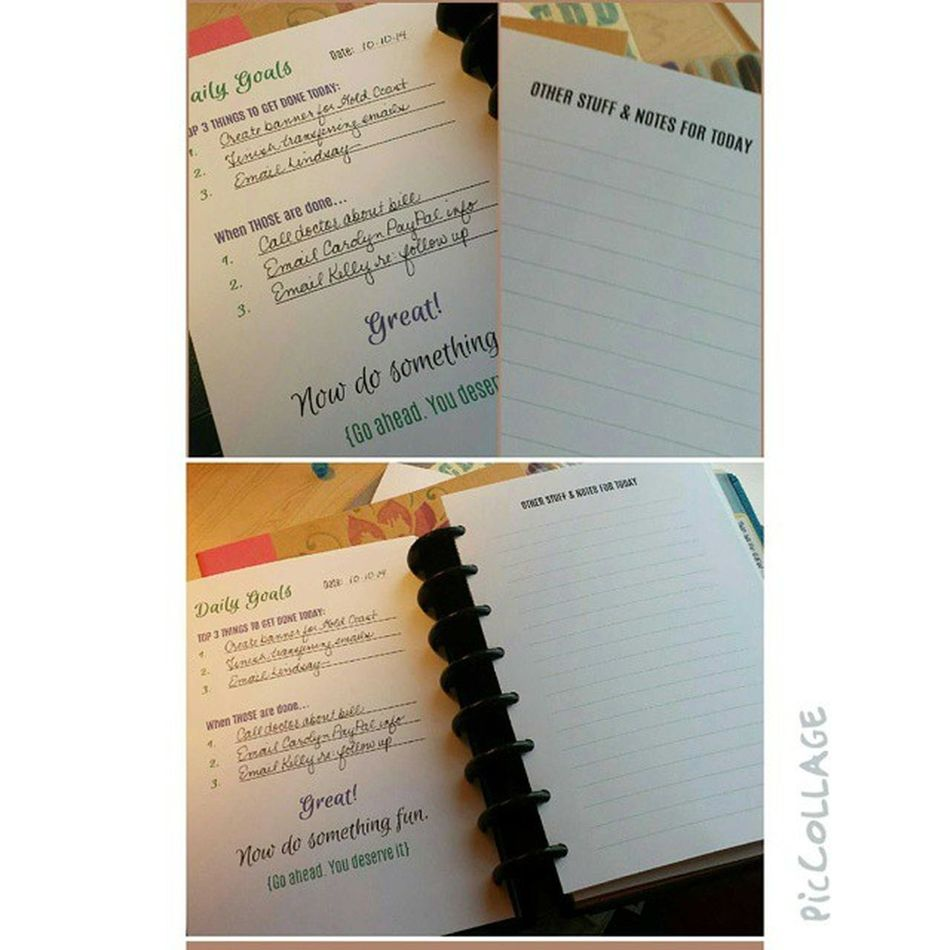 Another Daily Goals Planner page I made. Arcplanner Organization Itsaplannerthing