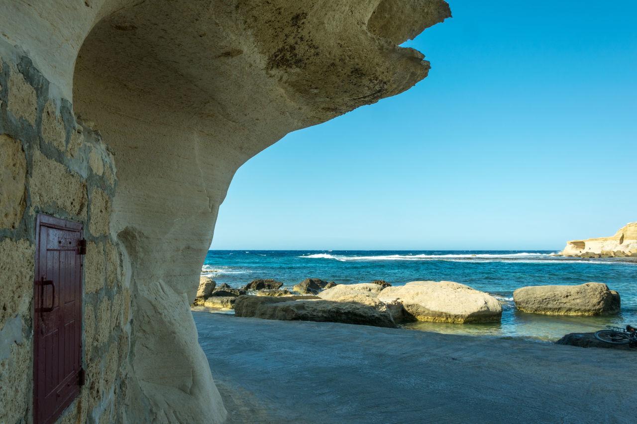 Blue Sky Gozo Gozo Malta Marsala Marsalam Marsalforn Ocean Water Waterfront Window