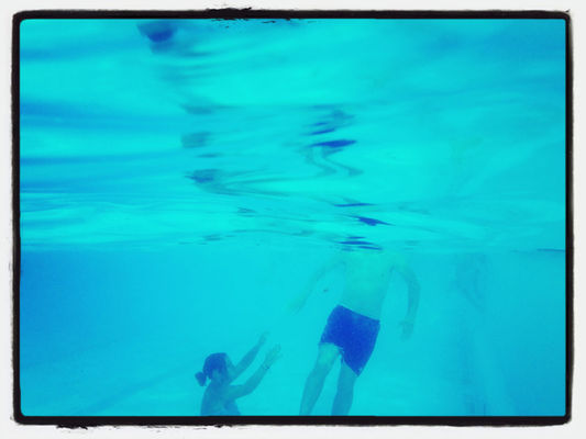 Swimming at Freibad by Heike