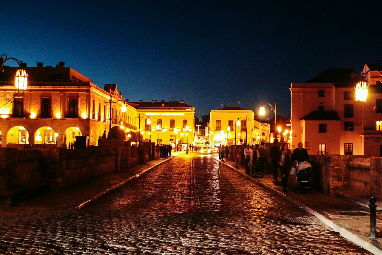 Illuminated Architecture City Night History Outdoors No People Sky Check This Out Ronda Spain EyeEm Gallery Ronda, Malaga New Bridge Stone Road Night Photography
