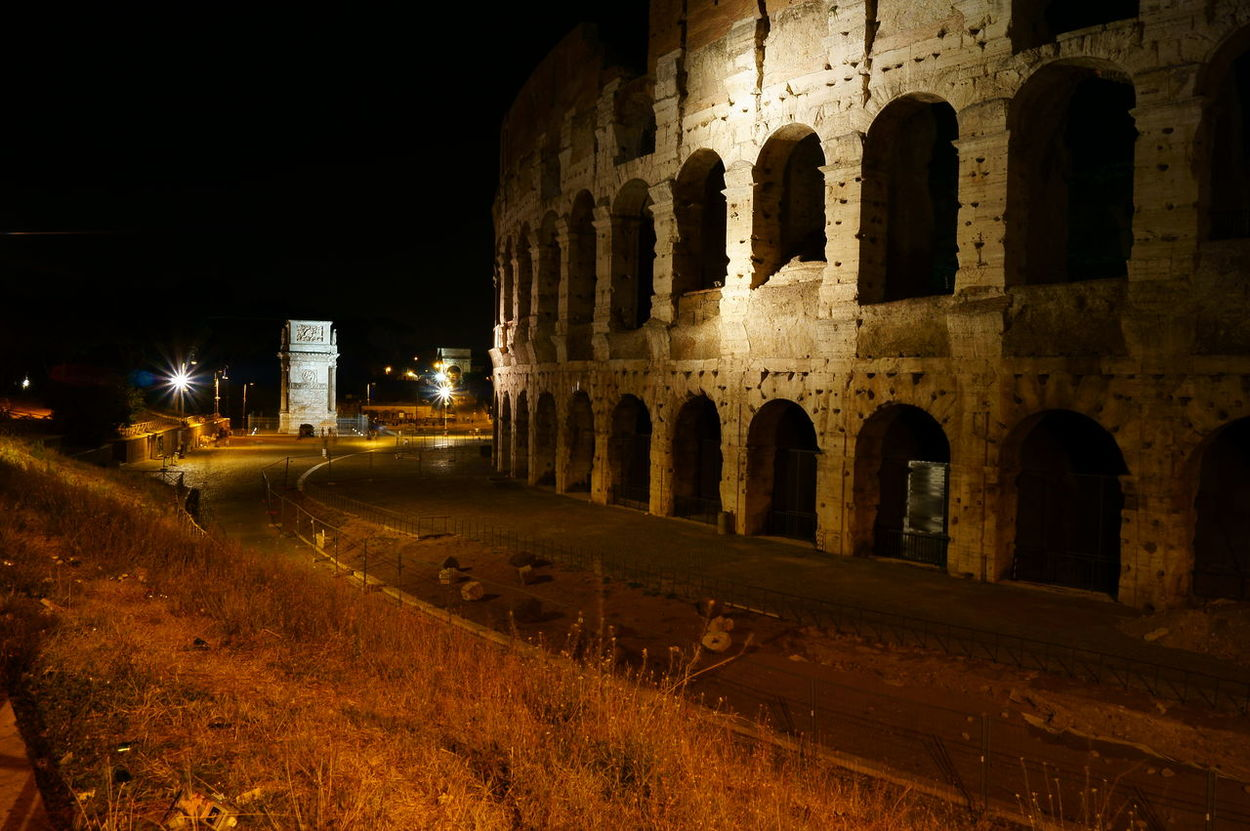 Architecture Città Etera Coliseum Colosseo Colosseo By Night Colosseo Roma Eternal City History Illuminated Italy Lght In The Night Night No People Old Architecture Old Roman Bulding Old Roman Place Old Roman Road Old Roman Way Old Rome Old Structure By Night Old Structures Old Town Outdoors Rome, Italy Saturday Night In Rome