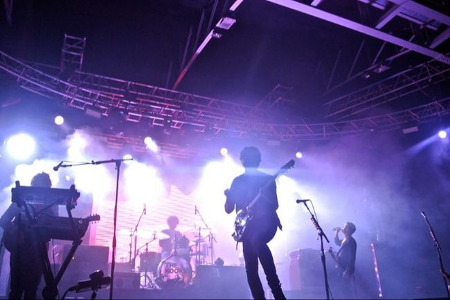 The Kooks Milan Lafabrique Live Music Band Lights Concert Purple Music