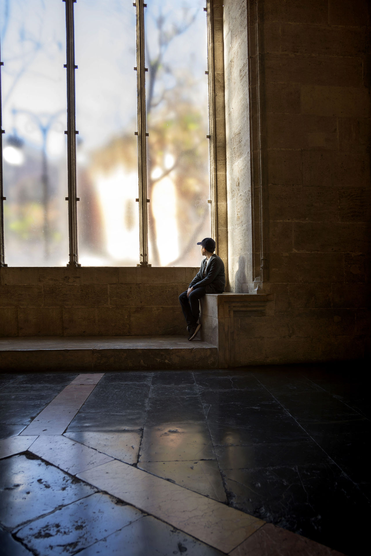 Waiting. Conceptual image. Amazing Architecture Atmospheric Mood Boy Built Structure City Colors Conceptual Dark Darkness And Light Day Indoors  Indoors  Light Looking Mood People People Watching Perspective Tourism Travel Valencia, Spain València Waiting Window