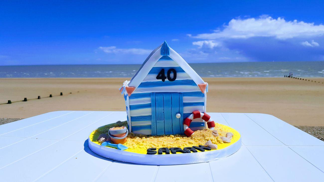 Beach Hut Cake ! Beach Horizon Over Water No People Frinton Frinton On Sea Essex