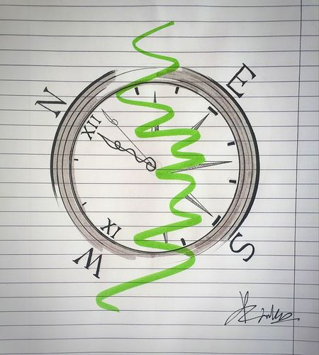 Imagination Art ArtWork Abstractart Abstract Sketch Sketching Idea Ideas Drawing Tattooidea Tattoodesign Tattoo Clocktattoos Clock #compass Tattooing Ink Black & White Black And White Blackandwhite Watercolor Black Direction Vasilisland