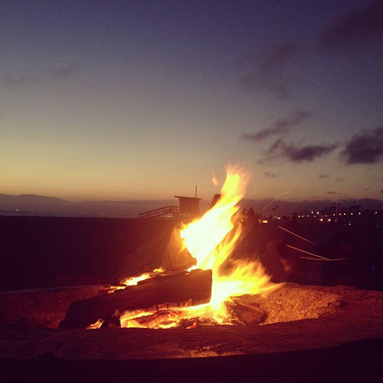 BURNBABYBURN Fire Bonfire Firepit Sanctuary Ocean Beach Friends TheGroup Nature