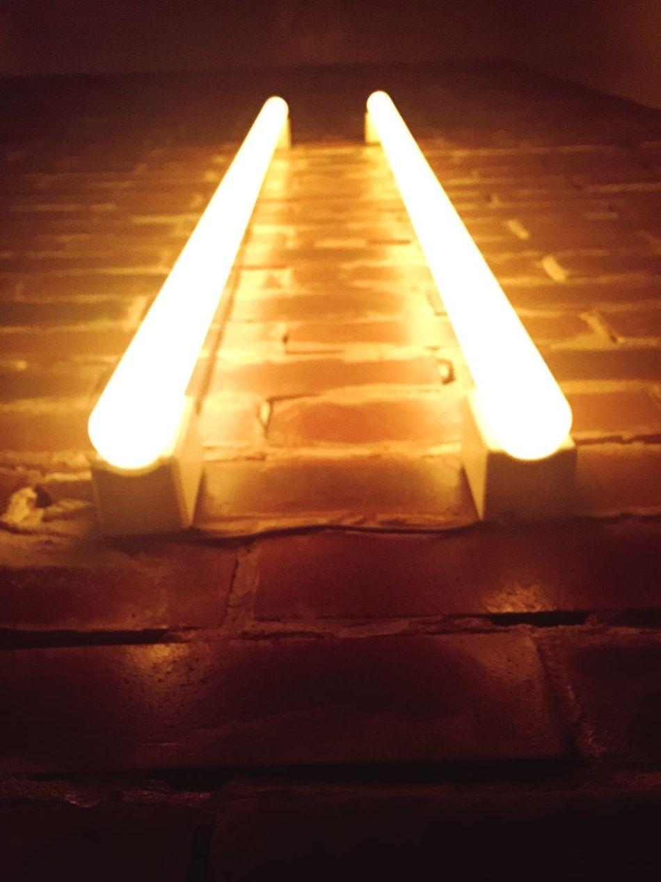 Wall Brick Wall Lights Light Night Lights Wallmount Minimalism Minimal Minimalist Symmetrical Symmetry Fluorescent Lamps