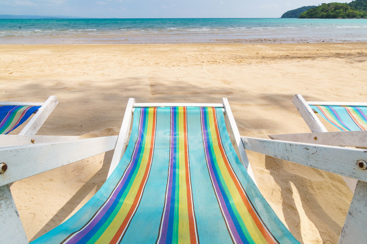 Beach Beachphotography Beauty In Nature Bed Blue Day Freedom Holiday Horizon Over Water Multi Colored Nature Outdoors Relaxation Rest Sand Sea Sumer Sunbathe Vacations Vacations Water