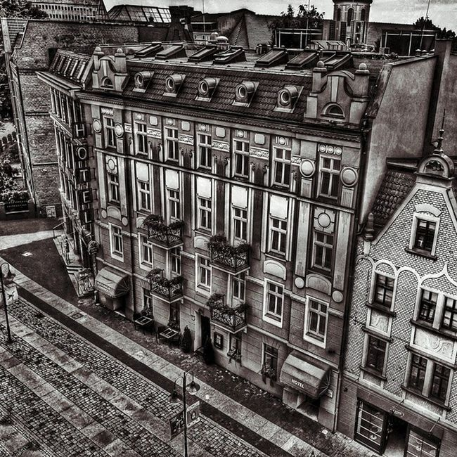 Opole City HDR_photo Loves_hdr hotel house street love_bnw bnw monochrome black_and_white old_city igerspoland igersopolskie vscopoland vscogood loves_Poland mobilnytydzien grey