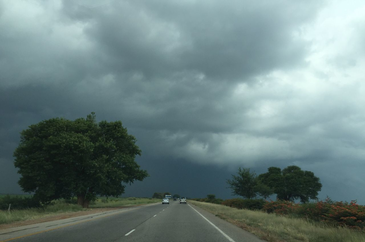 Storm Cloud Stormy Weather Clouds Road The Way Forward Transportation Cloud - Sky Landscape Outdoors Rainy Weather ☔️ Rainy Weather South Africa Trees Cars Highway