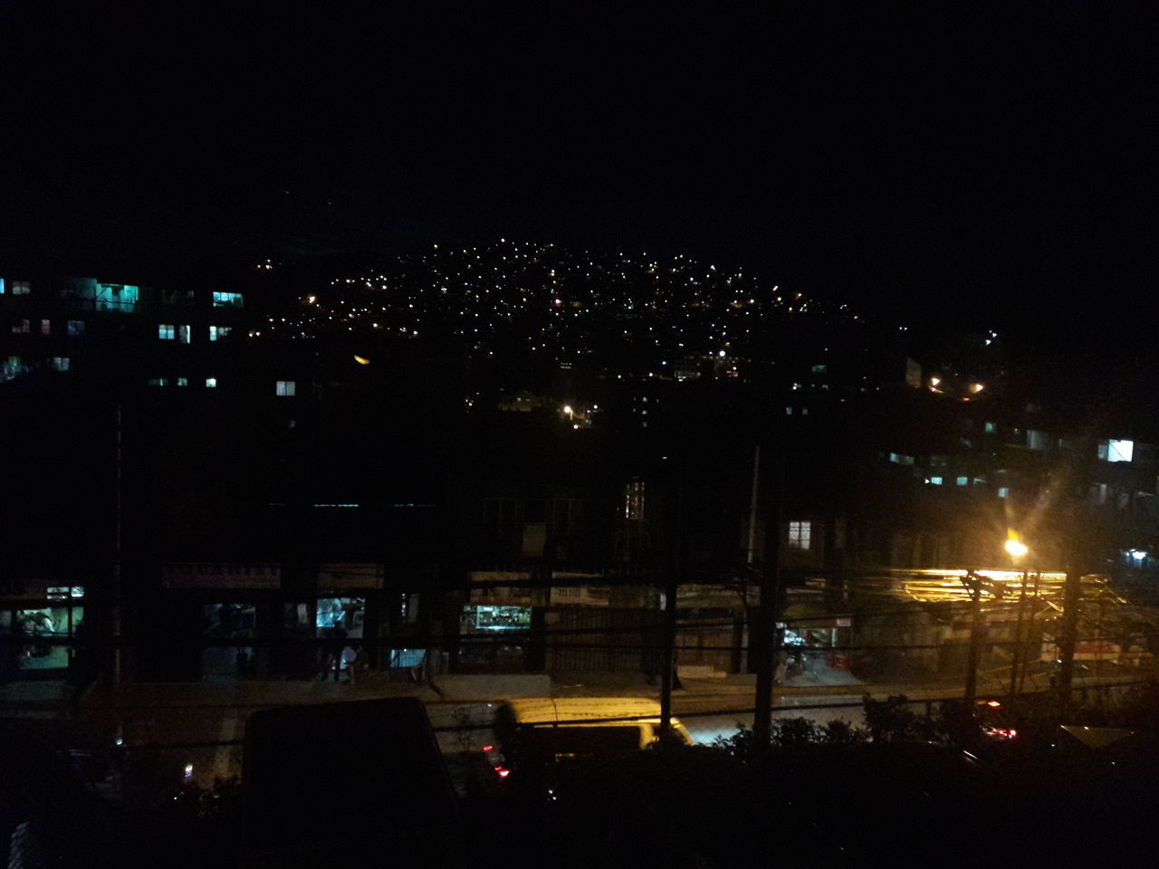 Night No People Sky Outdoors Houses On Mountain Lights And Reflection Lights On A Hill Baguio City, Philippines The City Light