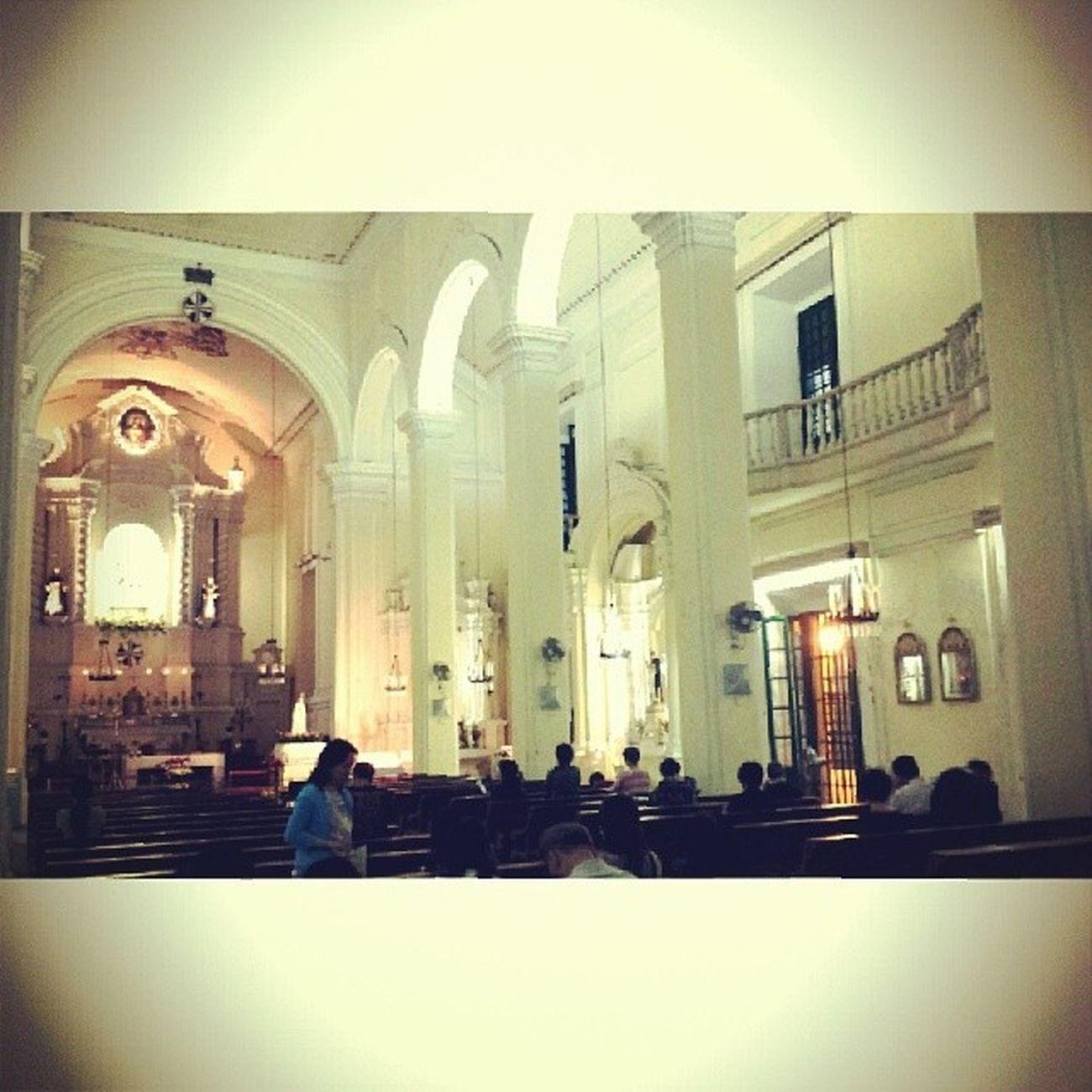 Interior Catholic Church 16th century baroque stylest dominic's Macau
