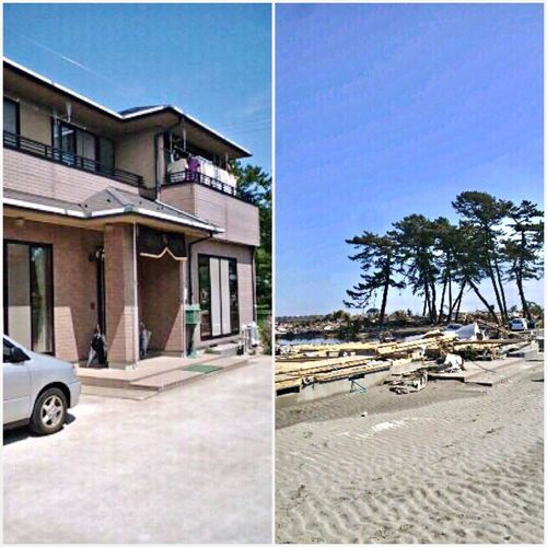 My Home 😱 Before And After March 11. 2011 A terrible tsunami followed the earthquake. After that there was not a house left standing in my hometown.