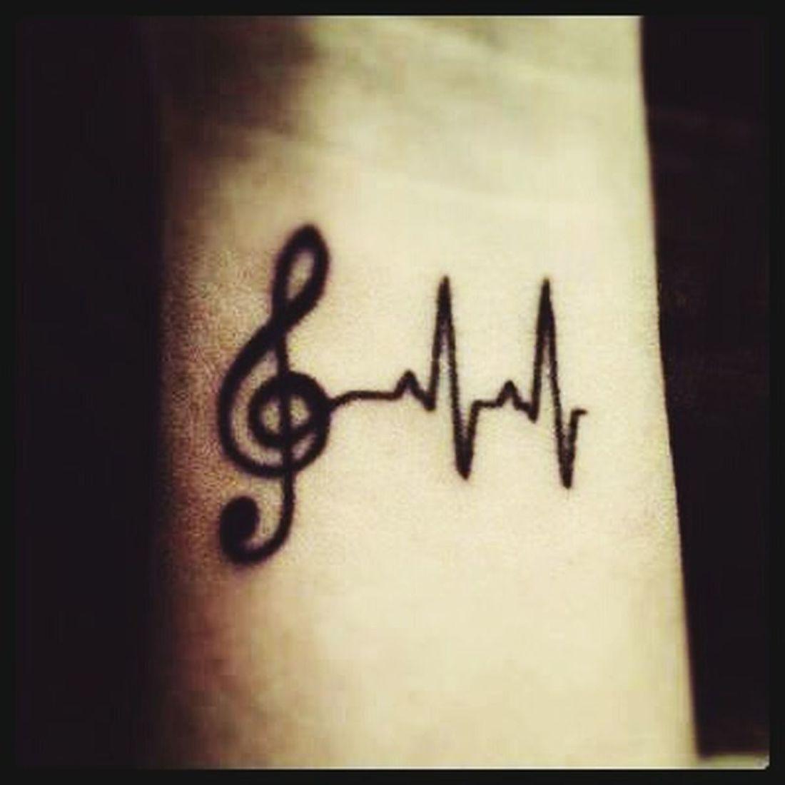 TATU Tatuagem ClaveDeSol MusicIsLife Music <3 Tattoo Futuratattoo Músicaévida Hi! Blackandwhite