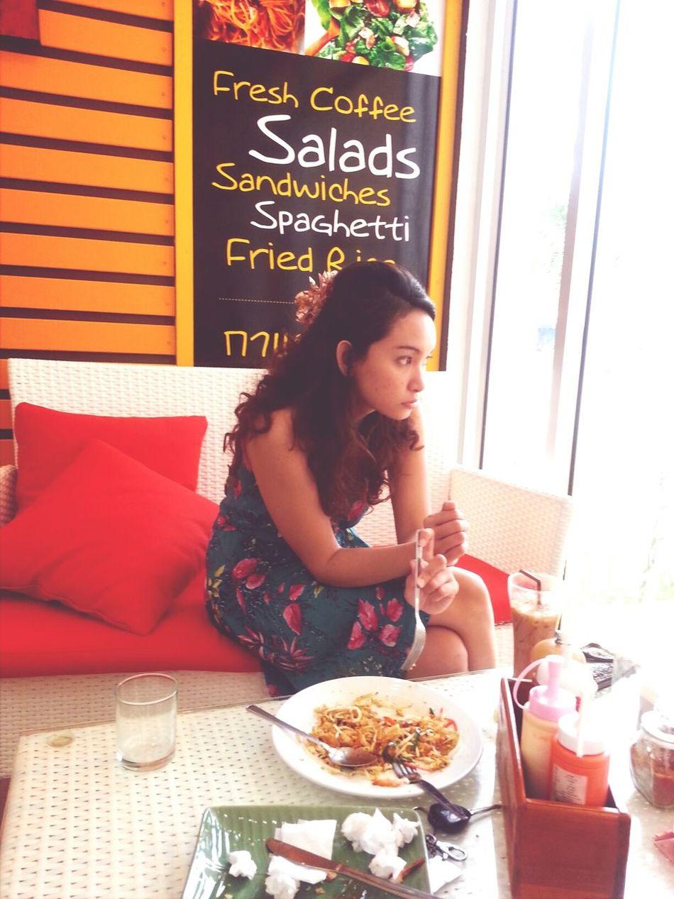 Lunch Eating Food Phadthai