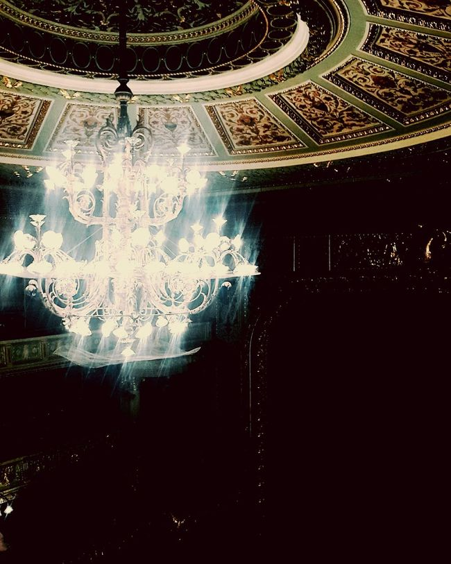 Lighting Equipment Illuminated Glowing Chandelier Opra House