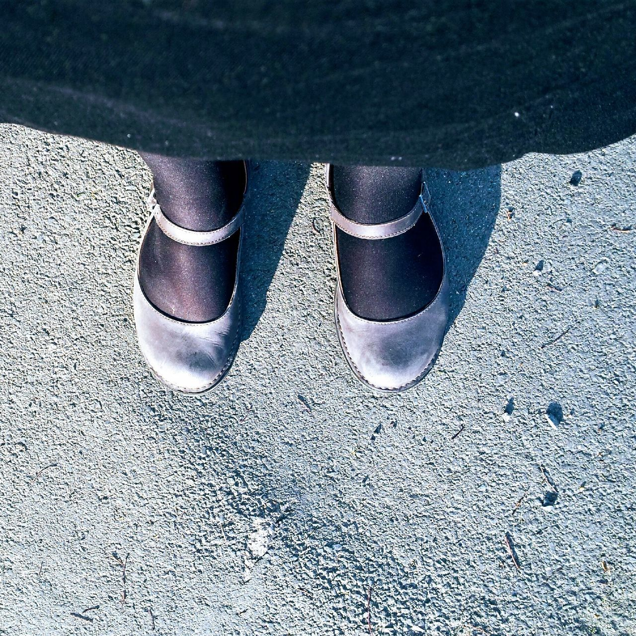 shoe, pair, low section, high angle view, day, outdoors, standing, no people, close-up