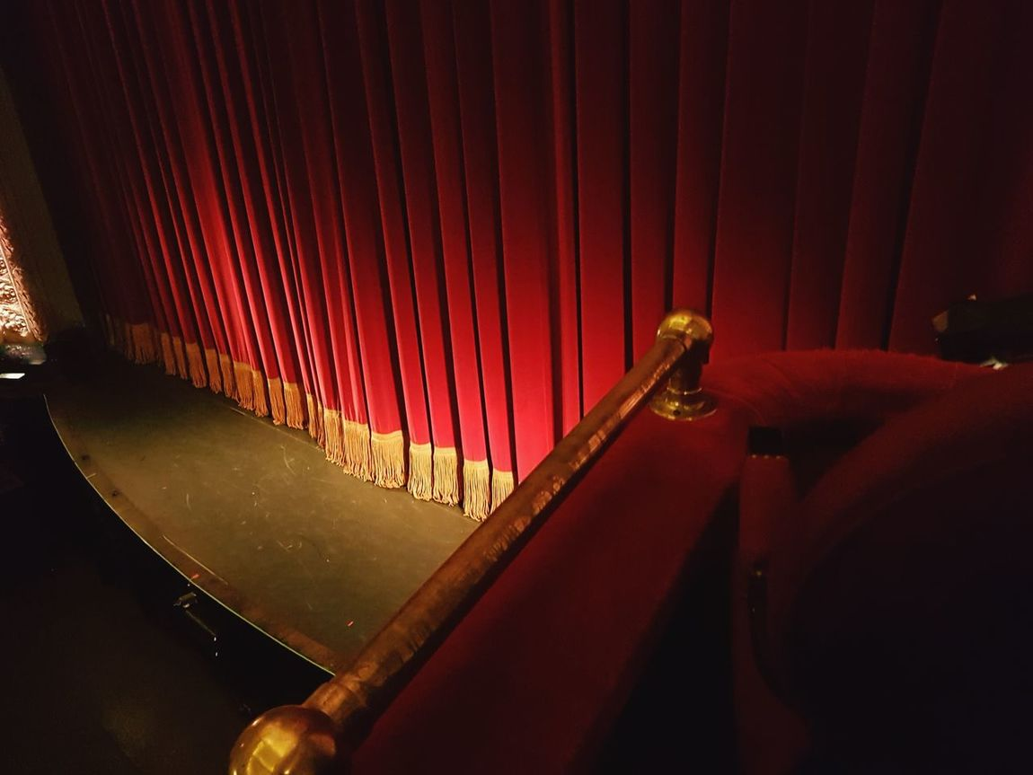 Curtain Red Indoors  No People Close-up Red Carpet Event Day Architecture EyeEm Gallery EyeEm Best Shots Performing Arts Event Stage Theater Auditorium Stage - Performance Space Fresco Low Angle View Indoors  Red Performance