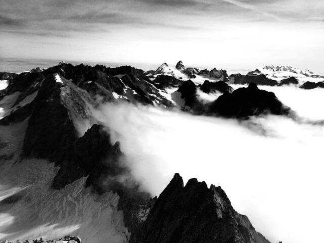 Chamonix Montagne Neige Nocturne Sommet