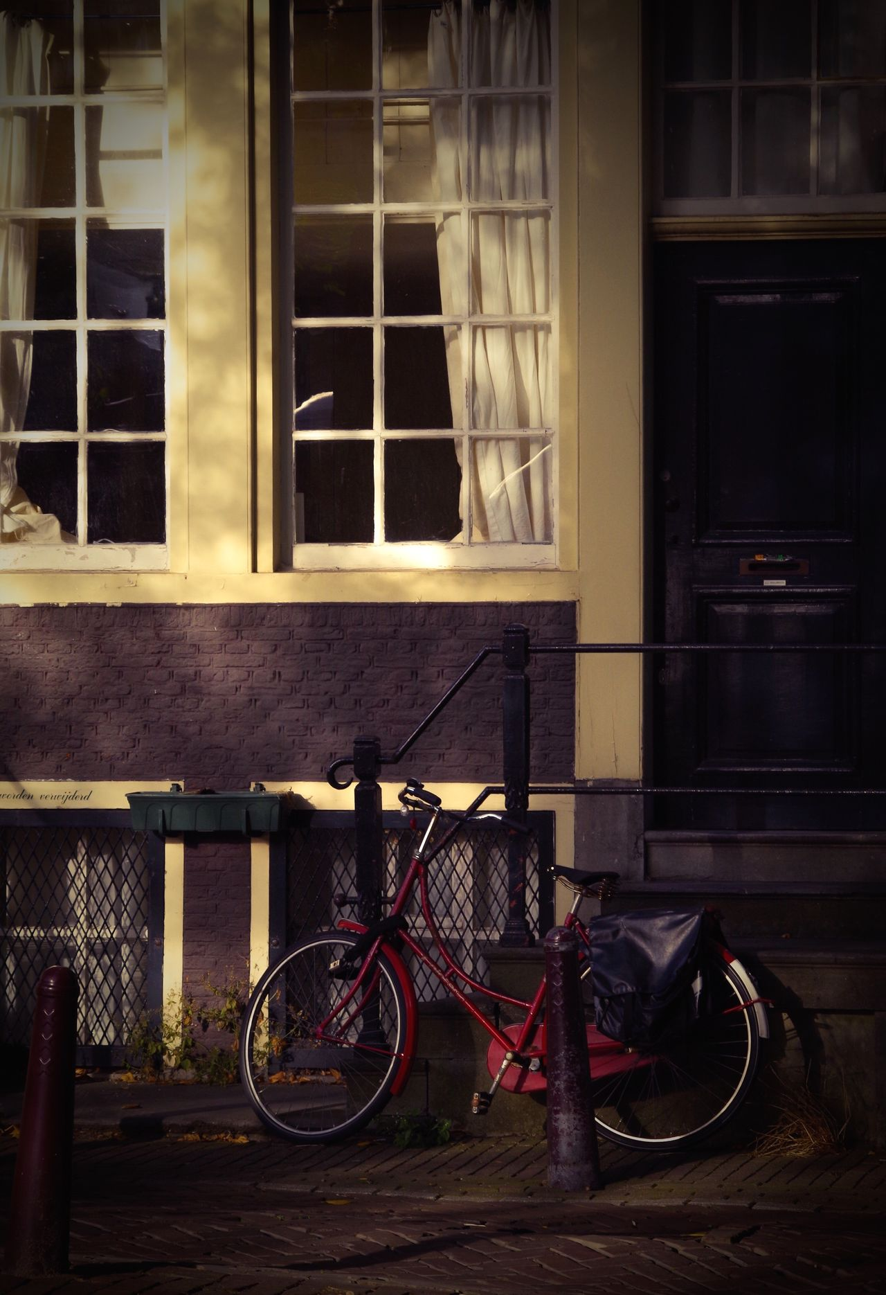 Bicycle Transportation Mode Of Transport Window No People Stationary Building Exterior Light And Shadow