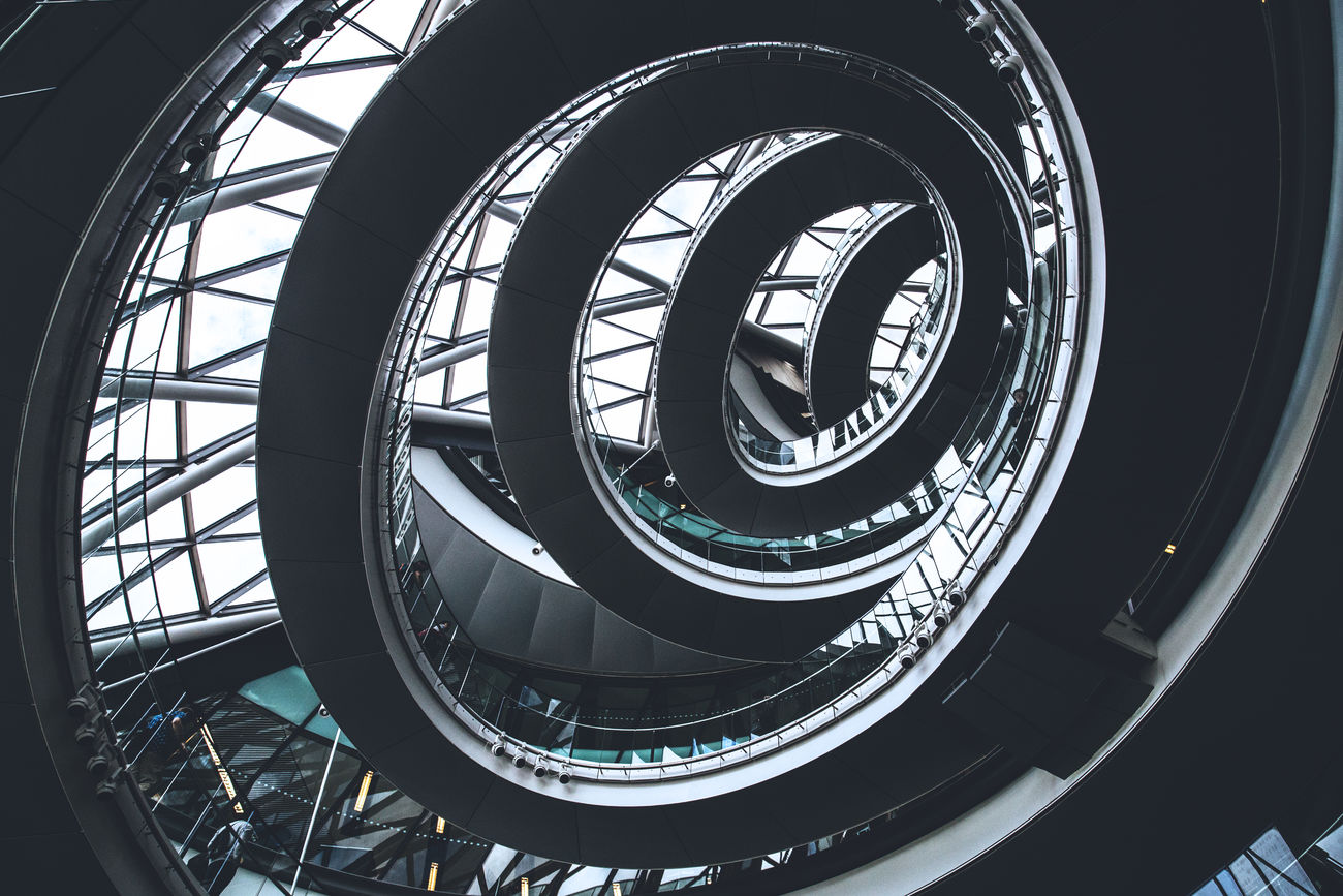 Spiral Architecture City City Hall Design Glass Indoors  London Spiral Staircase