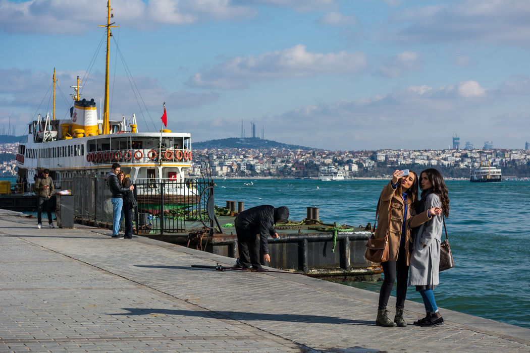 Selfie at Karaköy Architecture Bosphorus Bosphorus, Istanbul Europe Galata Bridge Galata Köprüsü Golden Horn Golden Horn Istanbul History Karaköy Karaköy Iskelesi Ottoman Empire Turkey Türkei Türkiye Women Around The World The Photojournalist - 2017 EyeEm Awards