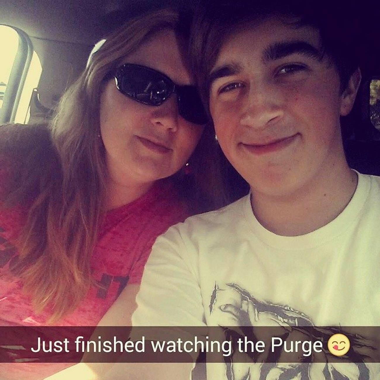 Bad picture, but whatever, just saw the Purge: Anarchy with mi madre. Thepurgeanarchy Goodmovie Studiomoviegrill