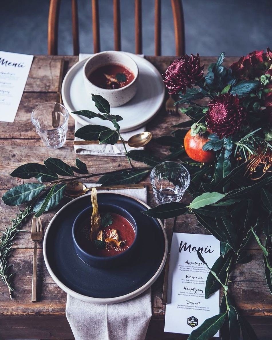 Wanna??? Cup Day Soup Soup Time  Eating Healthy Flower Wood - Material Woodtable Table Oldtable Antique Morning High Angle View Indoors  Plate