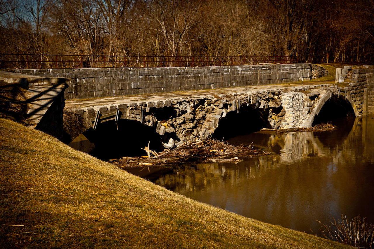 Bridge C&o Canal Stone Arch Bridge Stone Bridge Williamsport, Md