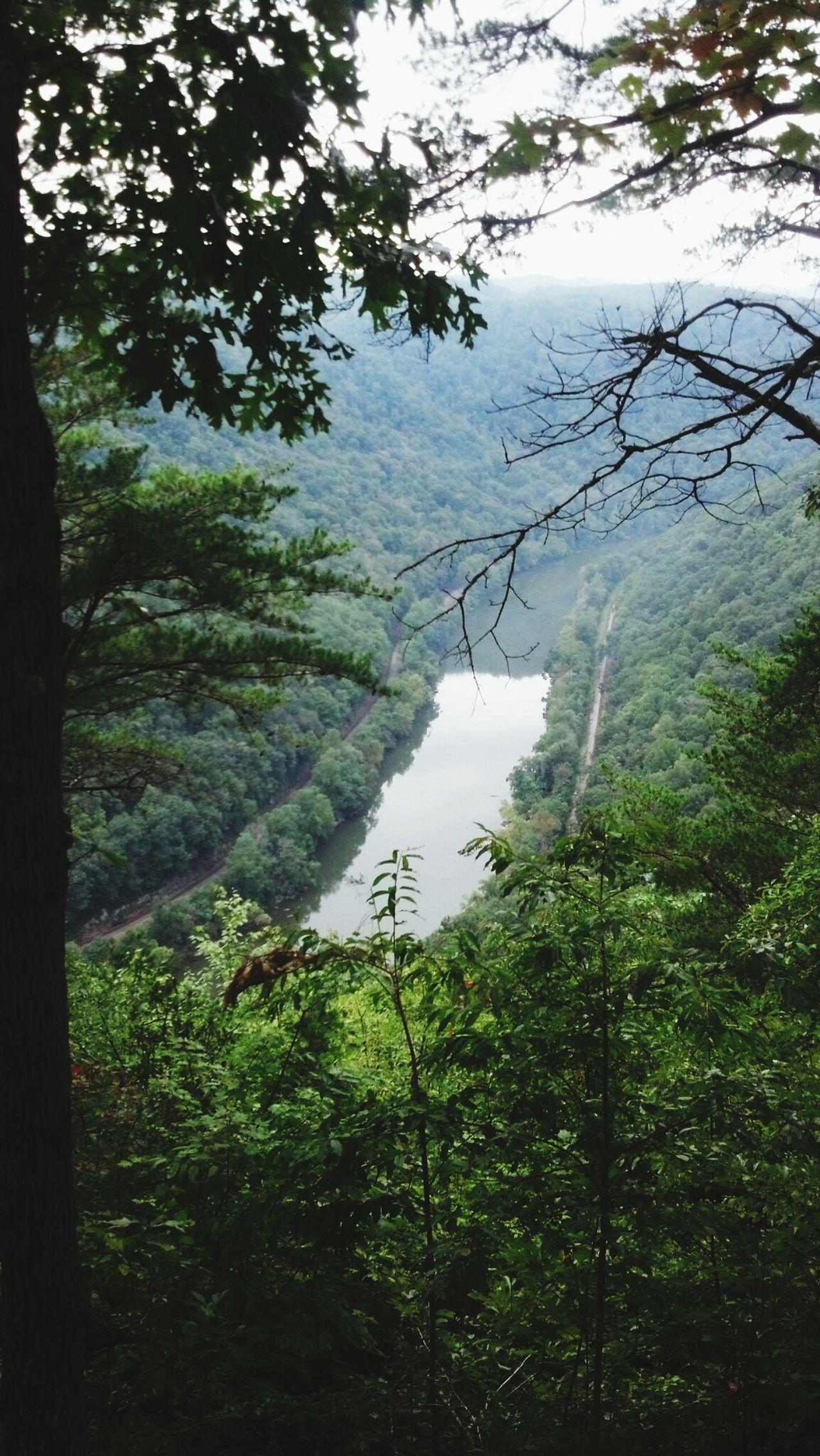 Beautiful view here in West Virginia today. NewRiverGorge SmokysontheGorge Westvirginia ClassVI