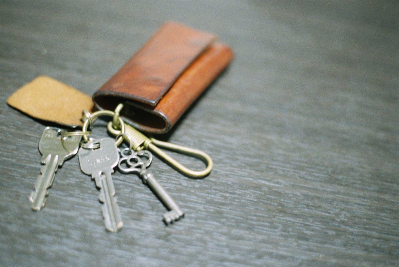 High Angle View Of Keys On Table