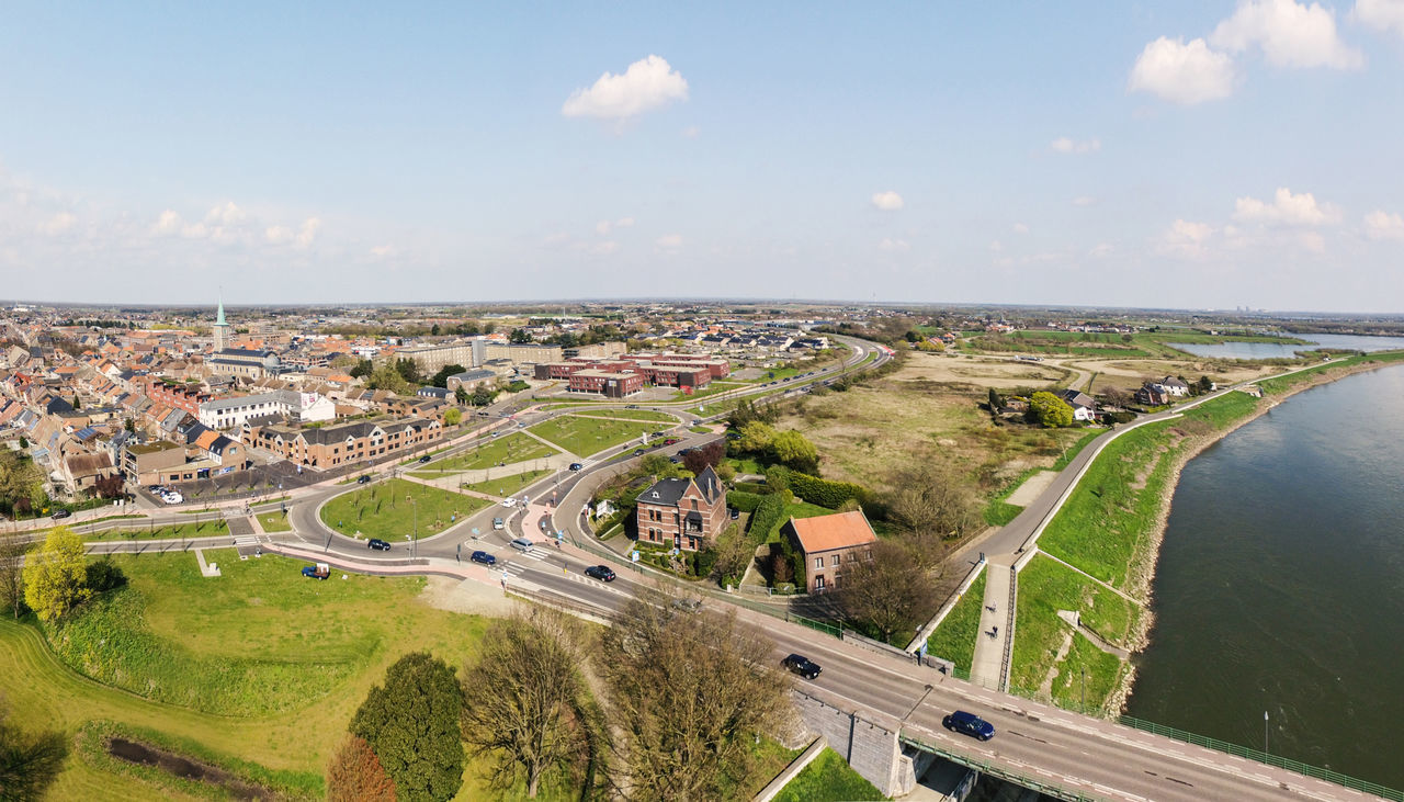 Aerial View Dronephotography Grensmaas High Angle View Landscape Maas Maaseik Meu Nature River Waterfront