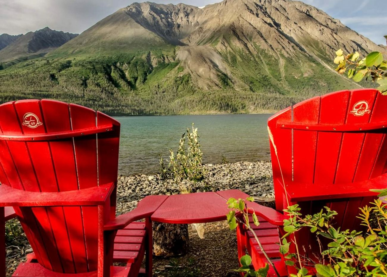 Summer 2015 view of the Kings Throne in Kluane National park Outdoors Nature Beauty In Nature Water - Collection NikonLife Canada Nikon D7000 Outdoor Photography Canada Coast To Coast Nature Mountain View Mountain Kluane National Park & Reserve
