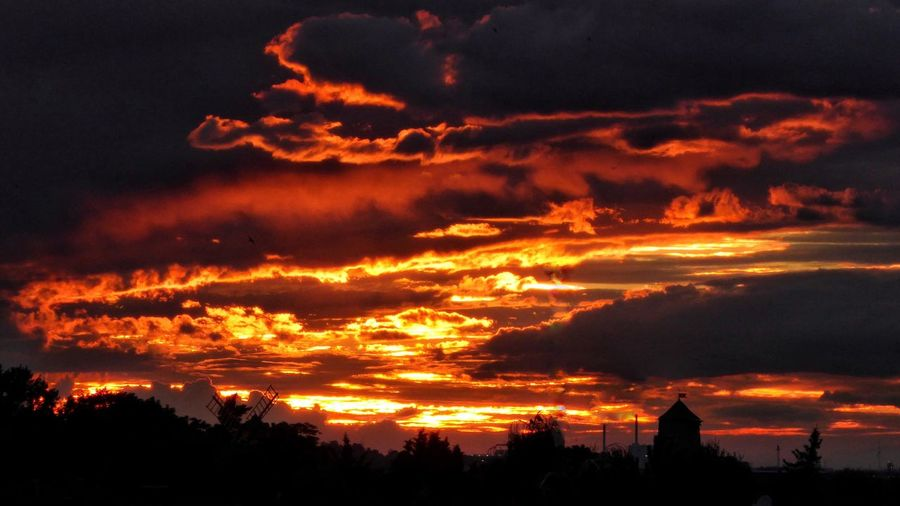 Sunset Silhouette Sky Orange Color Built Structure Architecture Building Exterior Cloud - Sky No People Tree Outdoors Nature Scenics Beauty In Nature Growth Cityscape Night Cloudcollection EyeEm Gallery Myhometown Bad Dürrenberg Germany Sunset Silhouettes Sunset_collection Dramatic Sky