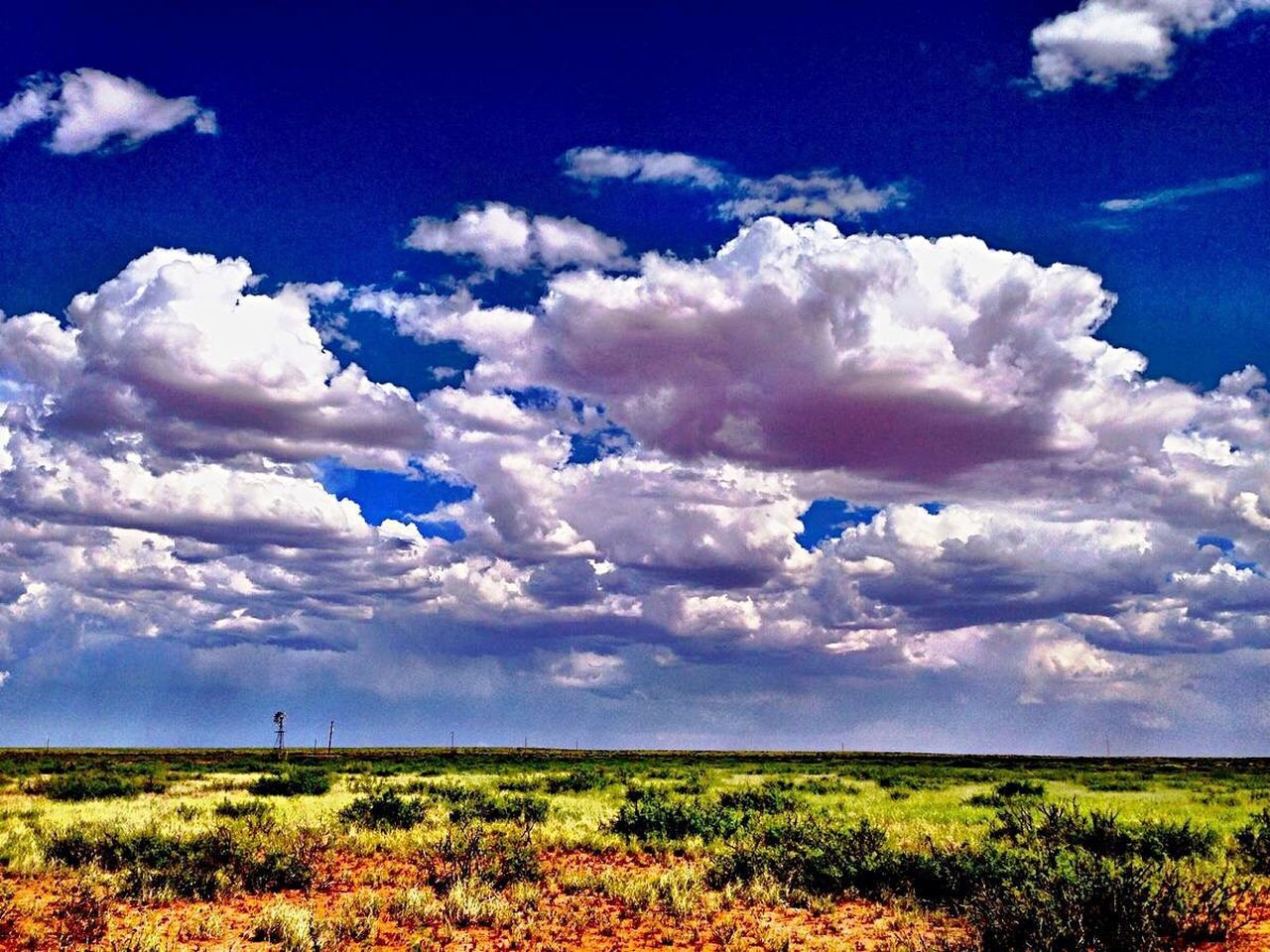 Cloud - Sky Sky Landscape Scenics Nature Outdoors Beauty In Nature No People Field Tranquility Cumulus Cloud Grass Travel Destinations Beauty Day Tranquil Scene Westtexasskies Windmill