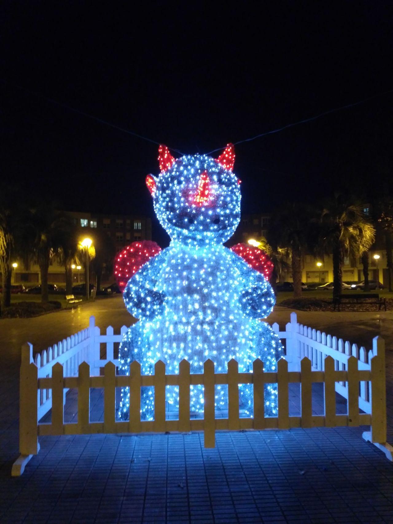 Christmas Dragon Christmas lights Christmas Lights Christmas Decoration Gijón Night Christmastime Christmas Around The World Spaın