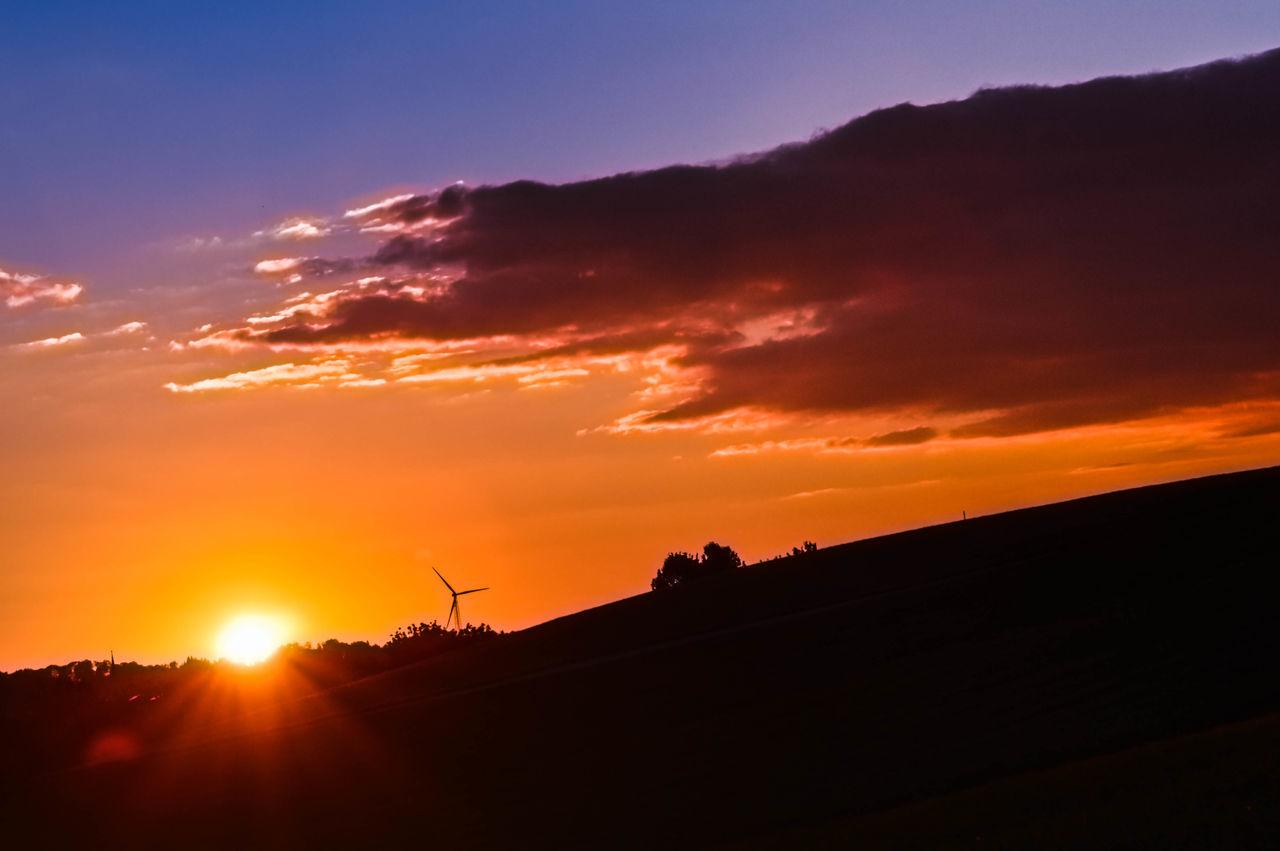 Sonneuntergang Sonnenstrahlen