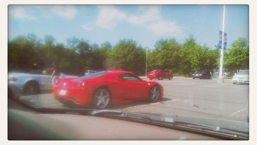 saw this awesome Ferrari.