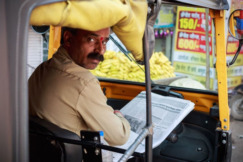 The Rickshaw Wala. Pune, India. One Mid Adult Man Only One Man Only One Person Only Men Indoors  Portrait Adults Only People Adult Day Snap A Stranger